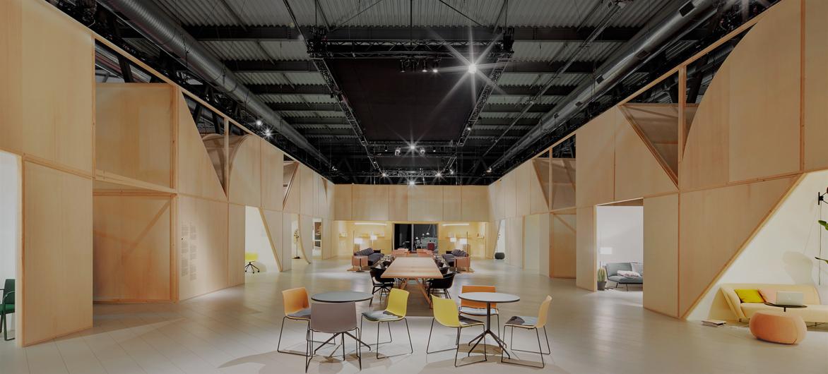 几何框架下的复杂空间——Arper展厅