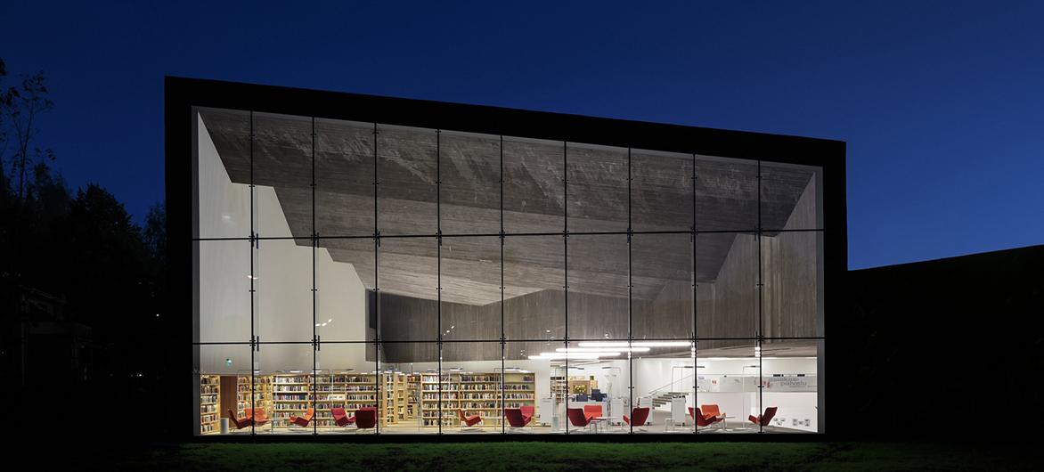 拥有开阔自由、简约利落全景视野的芬兰图书馆