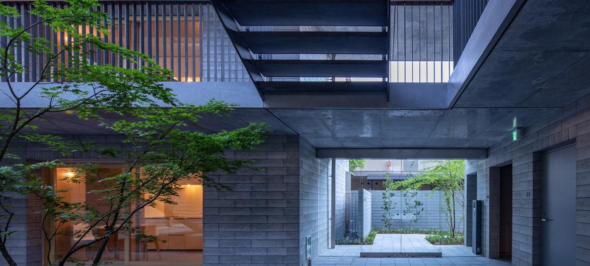 庭院深深,清幽简素之家:朝日集团员工宿舍 KAEDE / Takenaka Corporation