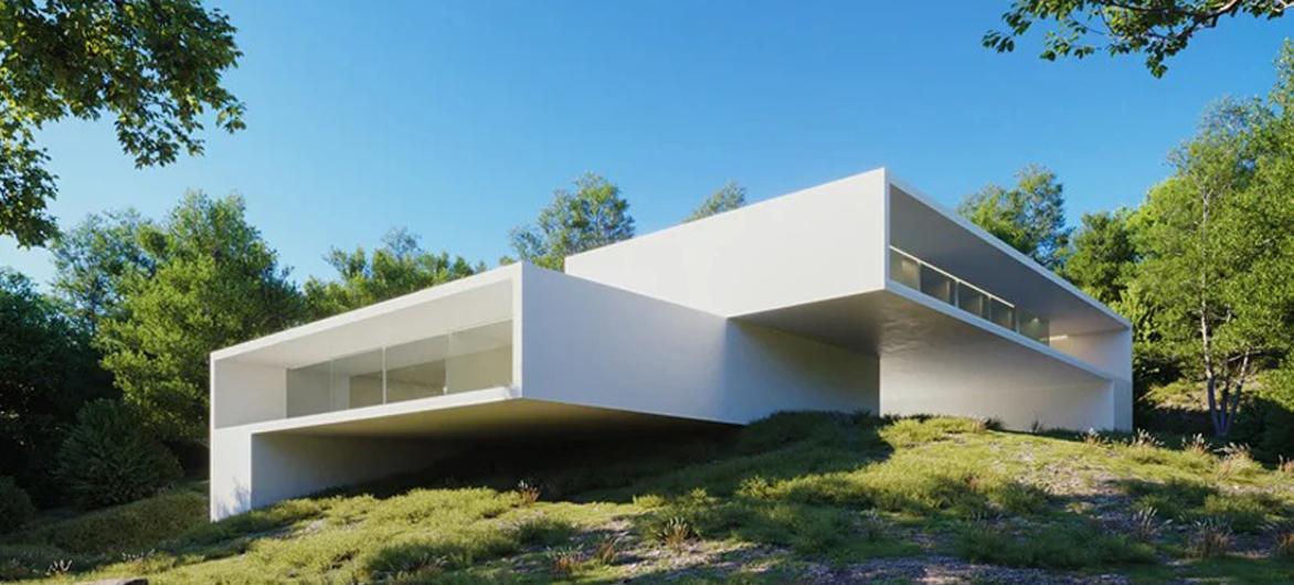错位布局,嵌入场地的白盒子:里约热内卢之家 / Silvestre Arquitectos