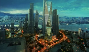SOM设计的韩国对棱塔