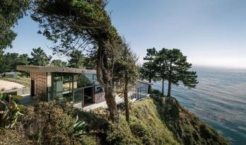 在陡峭海岸上的住宅