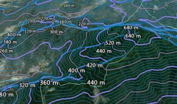 利用google earth制作地形等高线,代替地形图