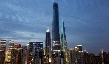 上海中心大厦进入施工的最后阶段
