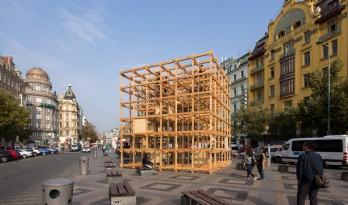 """多维""""木魔方"""",布拉格市中心的esignblok立方体"""
