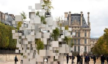 漂浮层叠立方体装置,藤本壮介巴黎首个作品(附视频)