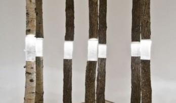 原木生活,创意木灯具
