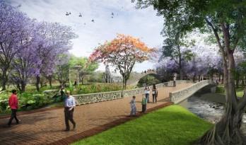 West 8为卡利市设计振兴城市的河滨公园