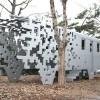 像素化溶解的列车,dispersion雕塑