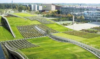 的绿化屋顶,法国一所土木工程学院