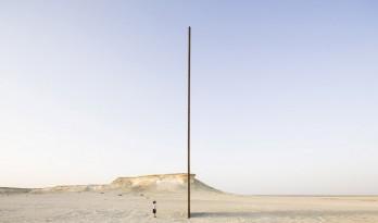 理查德·塞拉新作,卡塔尔沙漠中的四块大钢板