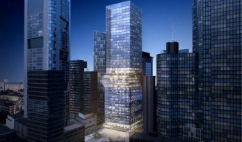 BIG设计作品——腰部扭转的法兰克福塔楼
