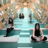 图书馆中的拱形书架