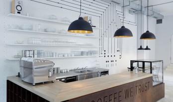 把线路变成装饰的咖啡馆
