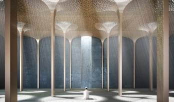 阿布扎比清真寺设计 光线的垂直景观