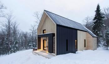 北欧风格的林间度假小屋