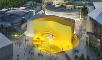金色光束照耀下的首尔娱乐综合体——MVRDV