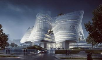 随风飘动的厦门欣贺设计中心——MAD