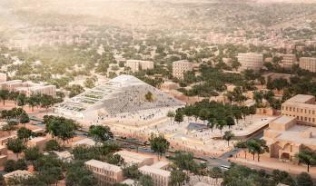 francis kéré揭晓了为布基纳法索新国家议院设计的阶梯式金字塔方案