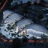 像素化穹顶餐厅,层层堆砌的垂直花园
