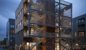 将工作空间延伸到建筑之外,幸福的办公空间