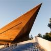 尖峰利角的木质结构,尽诉赛场霸气