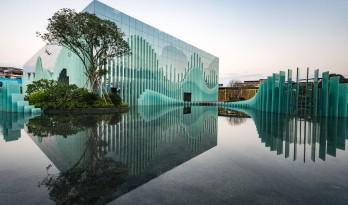 山水立方:一处玻璃构筑的风景