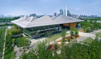 整合建筑华丽,将自然与建筑联系起来的南京生态科技岛展示中心