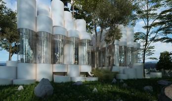 奇奇怪怪的建筑——里昂圆柱体住宅