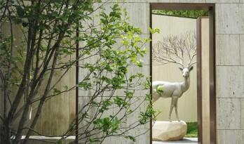 用光影改造景观,北京梵悦万国府公寓景观 / 承迹景观