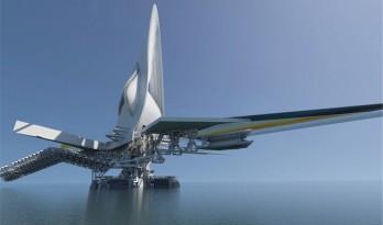 酷似科幻大片——乌兰木伦河上的旋转大桥