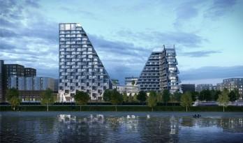 "L型退台的塔式高层住宅,Peter Pichler Architecture的""环形高塔"""