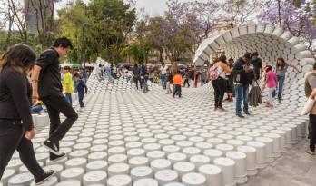 风靡墨西哥mextropolis建筑节的水桶浪花