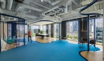 仿若置身水下世界的办公空间:上海地中海俱乐部总部