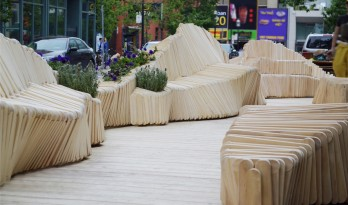 模块化的木质长椅:趣味性和实用性相结合