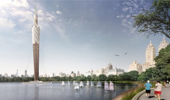 DFA为纽约中央公园构思了一座约220米高的木质瞭望塔