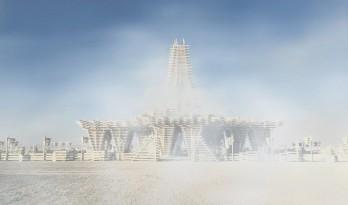 寿命只有8天的建筑,今年火人节的这座木寺庙讲述了狂欢背后的严峻的事实!