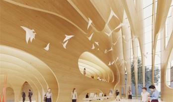 层层木板营造出的张力空间——芬兰坦佩雷艺术博物馆