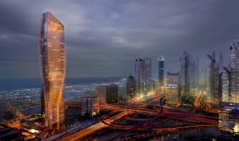 我壕迪拜与UNStudio联手再筑世界第一高陶瓷表皮摩天楼