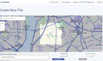 小技巧丨两种方法获取任意地区CAD地形图!