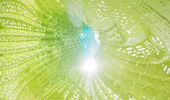 一抹明亮婀娜的绿:罗德岛大学HYPARBOLE双曲面装置亭