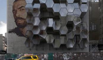 寄居城市山墙的蜂巢——3D-printed /  Framlab纽约创意