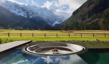 雪山、草地、云淡、天青,隐迹于欧洲最美山谷的养生酒店