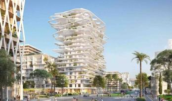 藤本壮介的法国尼斯白色塔楼方案新鲜出炉