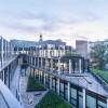 街道上的办公大楼——退台式的屋顶花园,相互渗透的室内外空间