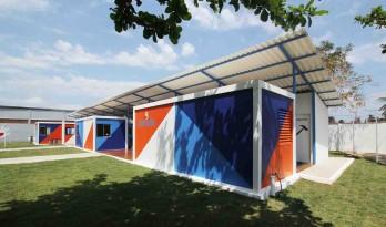集装箱模块搭建而成的JAMDS社会工程项目