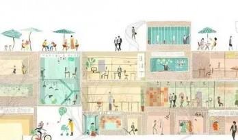 每日福利 / 一组建筑剖面表现欣赏