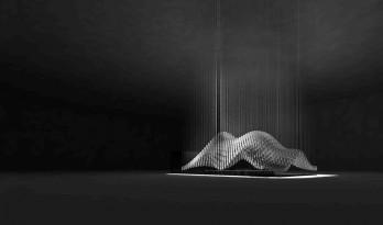 Alumilux公司的新展台——一千八百个铝型材构成的斗篷装置