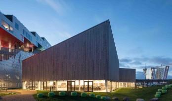 哥本哈根的多功能体育中心——倾斜的屋顶,轻盈的体量