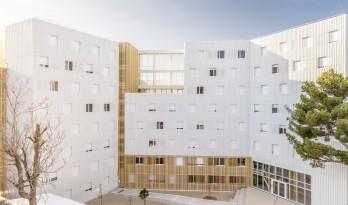 法国科尔尼学生公寓,八层纯木结构打造宜人居所 / A+Architecture